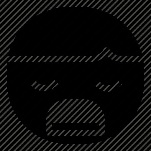 boy, emoticon, unhappy icon