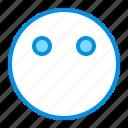emoji, emoticon, face, faceless icon