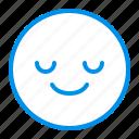 emoji, emoticon, face, happy, serenity icon