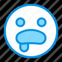emoji, emoticon, face, hungry, surprised