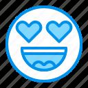 emoji, emoticon, face, heart, love icon