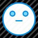 emoji, emoticon, face, reactionless icon