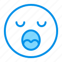emoji, emoticon, face, sleep, yawn icon