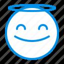 angle, emoji, emoticon, face, smile icon