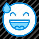 astonished, emoji, emoticon, face, smile icon