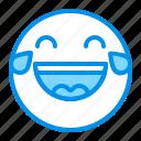 emoji, emoticon, face, laugh, smile