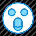 emoji, emoticon, face, omg, surprised icon