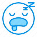 emoji, emoticon, face, sleep, tired icon