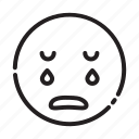 emoji, emoticon, sad