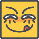 avatar, emoji, emotion, emotional, face, lust icon