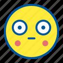 astonished, emoji, emoticon, face, surprised icon