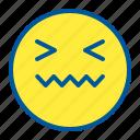 disgusted, emoji, emoticon, face