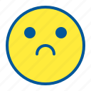emoji, emoticon, face, sad