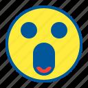 emoji, emoticon, face, omg, surprised