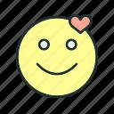 emoji, face, happy, love icon