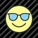 cool, emoji, face, happy icon