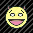 emoji, face, devil