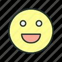 emoji, face, laugh icon