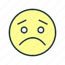 cry, emoji, face, sad icon