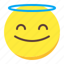 angle, emoji, emoticon, face, smile icon