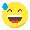 astonished, emoji, emoticon, face, smile icon