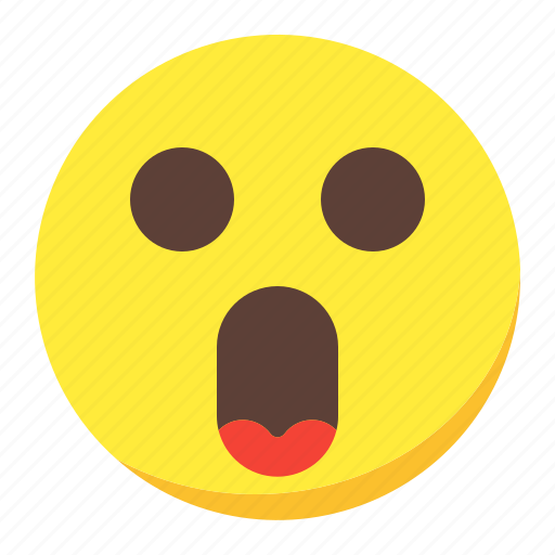 emoji, emoticon, face, omg, surprised icon