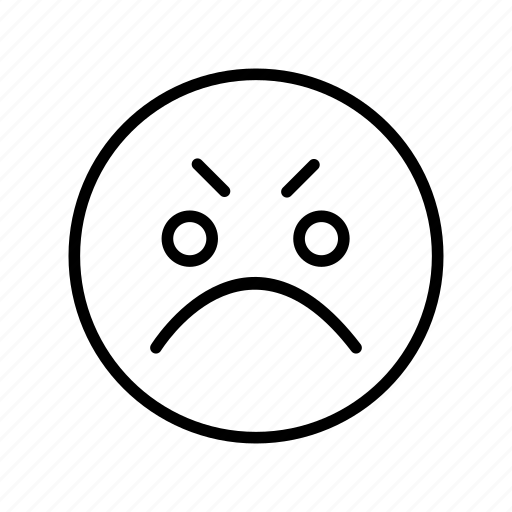 Angry, emoji, face icon - Download on Iconfinder