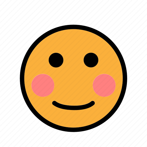 blushed, shy, smiley icon