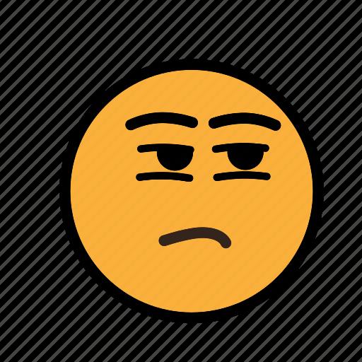 feel bad, noconcern, smiley icon