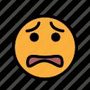 sad, smiley, unhappy, upset icon