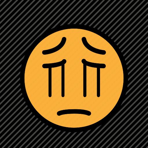 sad, sadness, smiley, unhappy icon