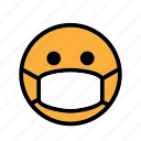 be quiet, calm, mask, silent, smiley icon
