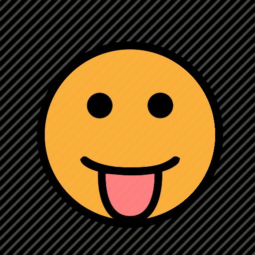 smiley, tongueout icon