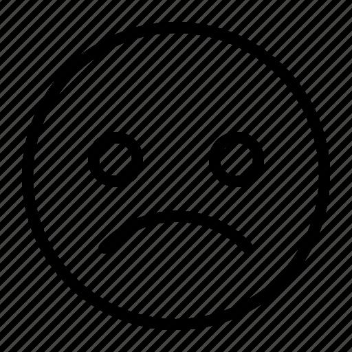 Emoji, emoticon, face, sad icon - Download on Iconfinder