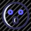 emoji, shocked, surprised, face, emoticon, smiley