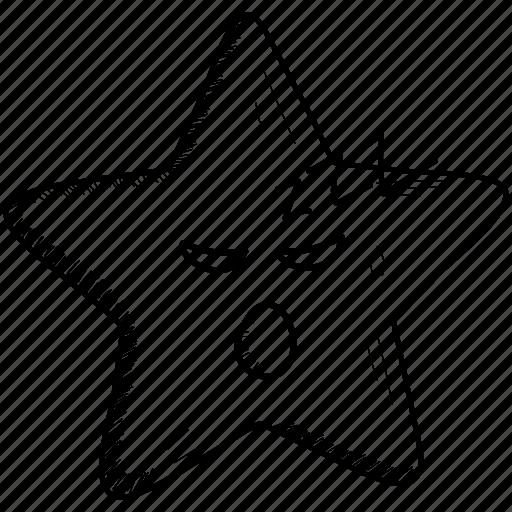 emoji, emoticon, joyful, smiley, star, surprised icon
