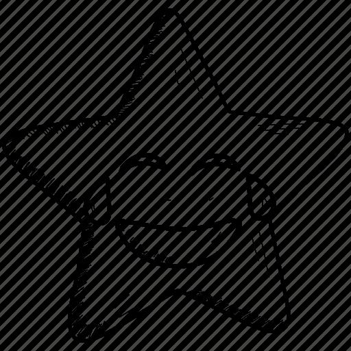 emoji, emoticons, laughing, smiley, star, tears icon