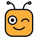 blink, emoji, emoticon, wink icon