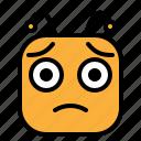 emoji, emoticon, moody, sad icon