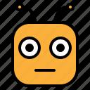 blank, emoji, emoticon, neutral icon