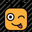 creazy, emoji, emoticon, tease icon