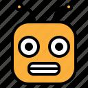 emoji, emoticon, nervous, twitchy icon