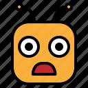 emoji, emoticon, shock icon