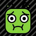 bellyful, emoji, emoticon, nausea icon