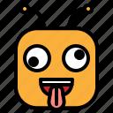 crazy, emoji, emoticon icon
