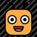 emoji, emoticon, glad, happy icon