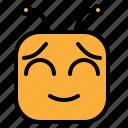 emoji, emoticon, shy icon