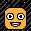 big smile, emoji, emoticon, glad, happy icon