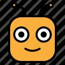 emoji, emoticon, glad, happy, smile icon