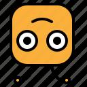emoji, emoticon, reverse, smile icon